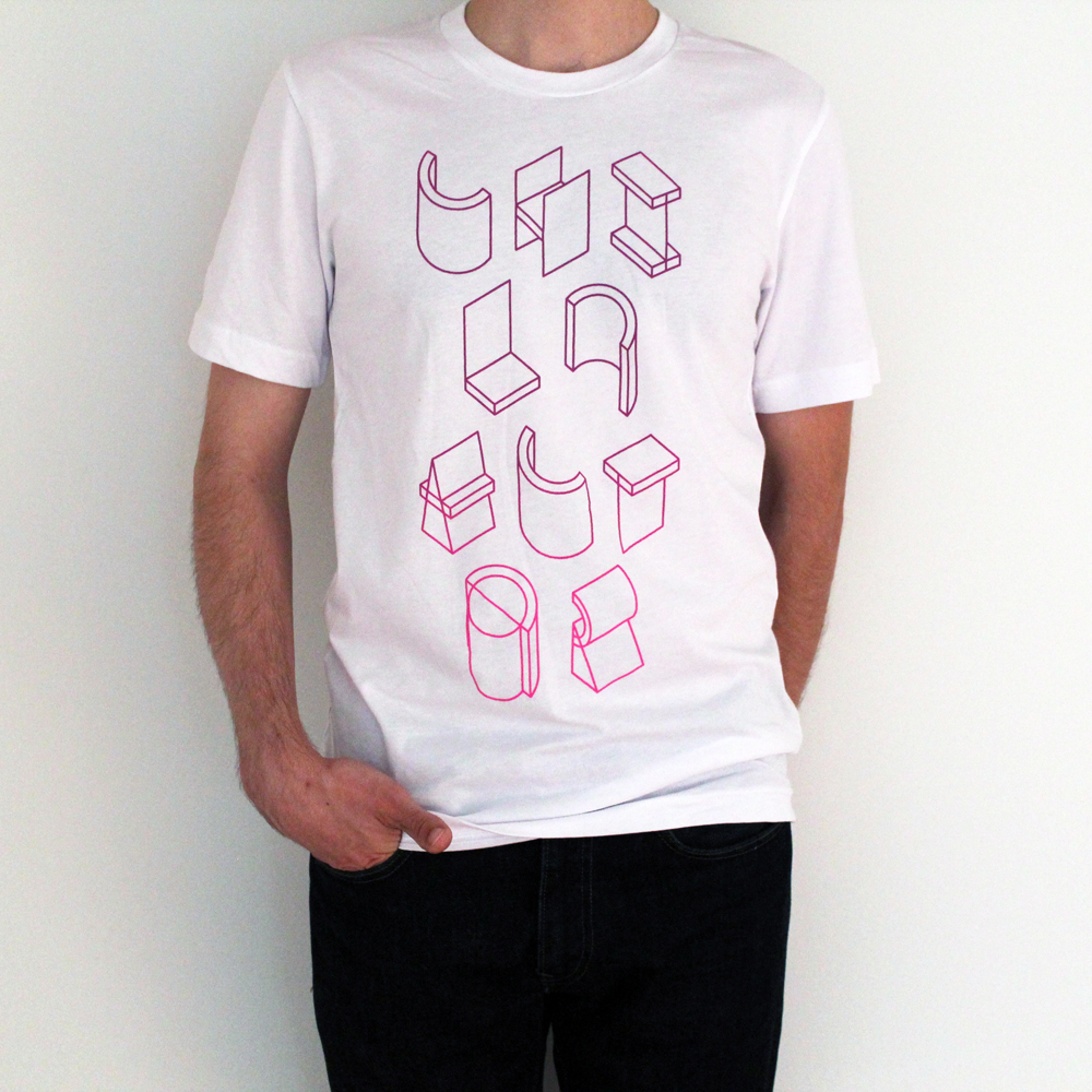 WHITE/OUTLINE TEE