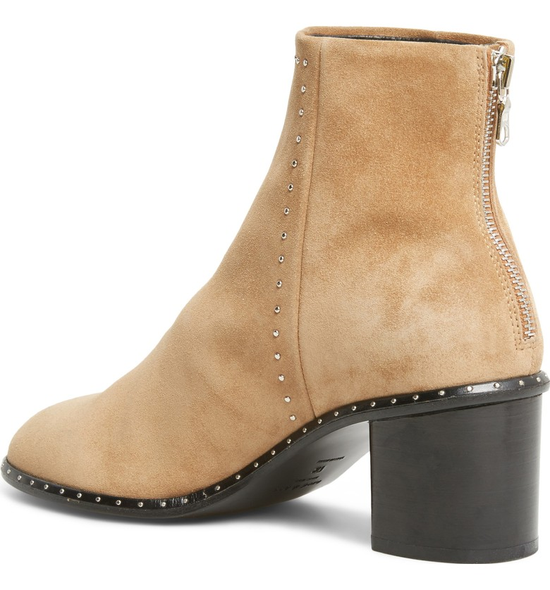 Again - loving the mini studs on these - perfect amount of timeless detail. They also come in a black - can't go wrong with either color or a Rag and Bone bootie of any style.