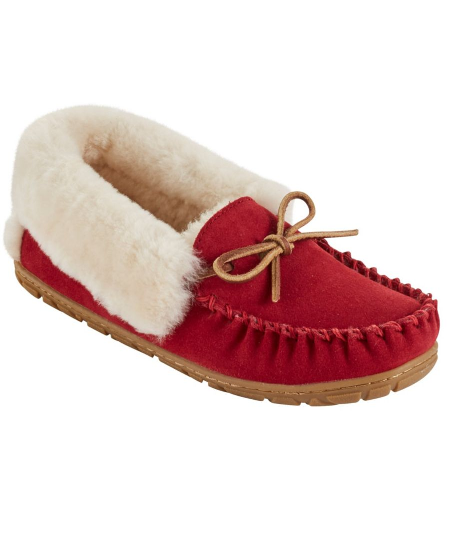 Can't go wrong on a LL Bean slipper - and I love the red!