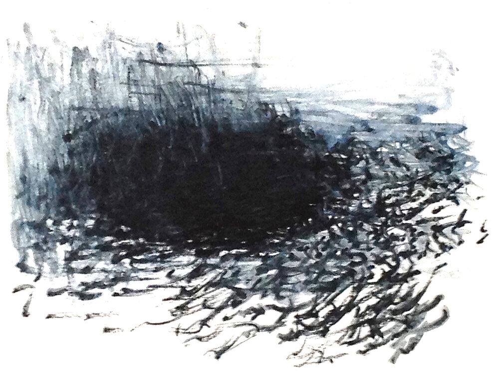 Bird, Reed, Wind, Water