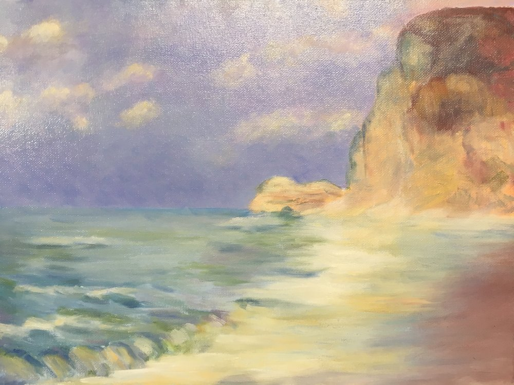 After Monet's Etretat