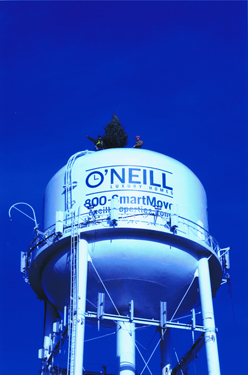 O'Neill Water Tower with Tree