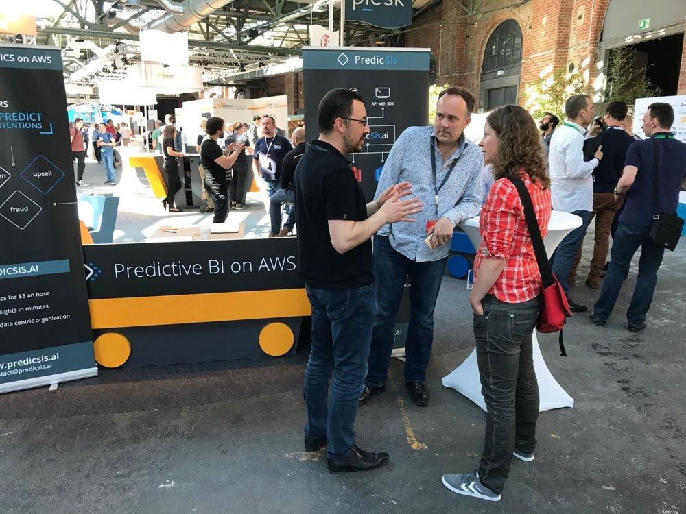 AWS Summit showing predictive BI on AWS