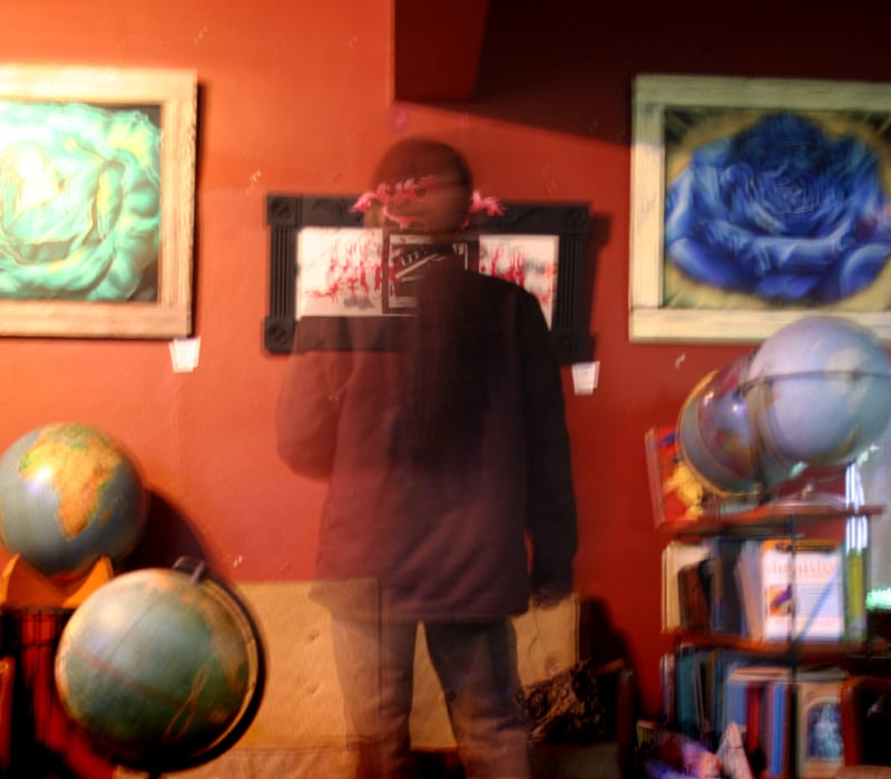 at the G Spot Gallery, my first show in Oregon, 2008