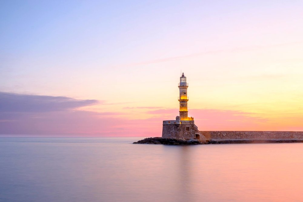 I spent two weeks in Chania, Crete photographing the famous lighthouse in different light. This sunrise shot was definitely the best and it was because I spent time in one location exploring the subject.
