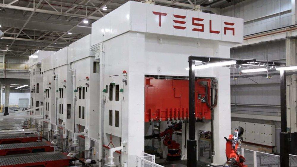 Tesla Stamping Press