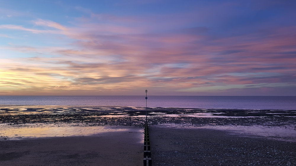 Sunset on the beach at Hunstanton taken with the Samsung Galaxy S8
