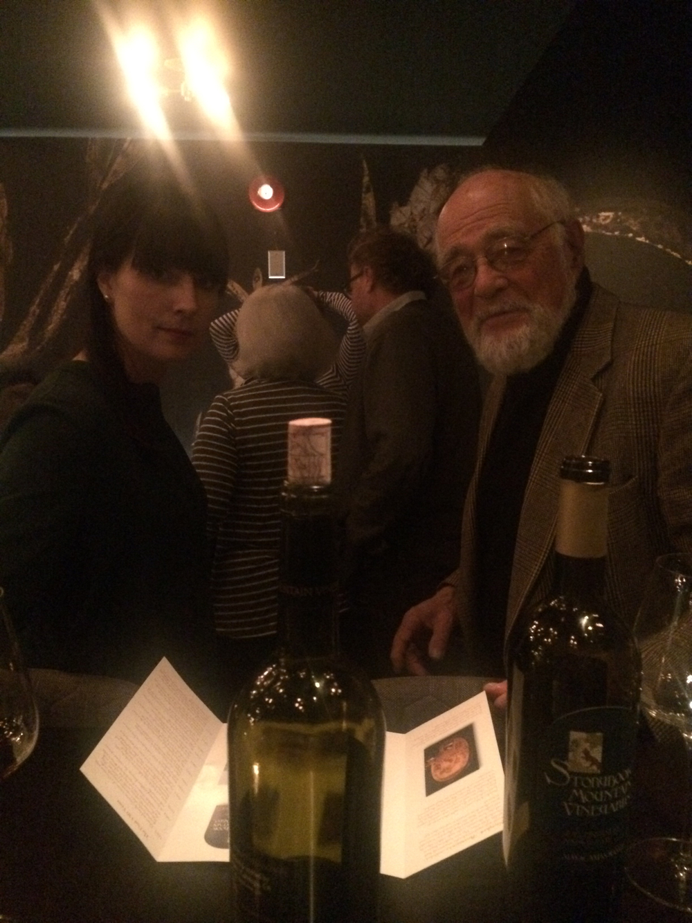 Amanda Bradley (Owner/GM - Alo Restaurant) and Jerry Seps of Storybook Mountain Vineyards