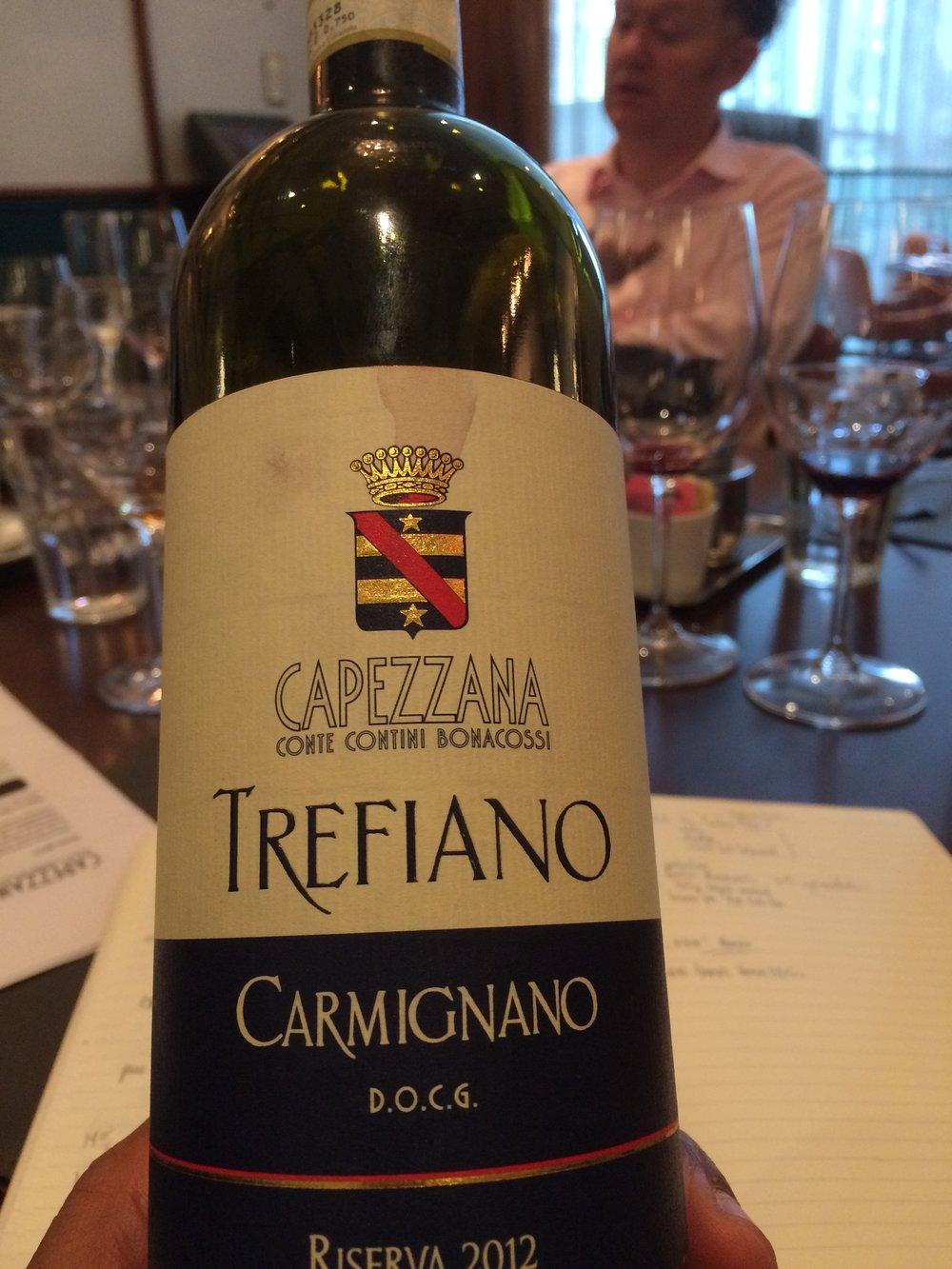 The delightful Treffiano Riserva - a Sangiovese/Cabernet/Canaiolo blend.