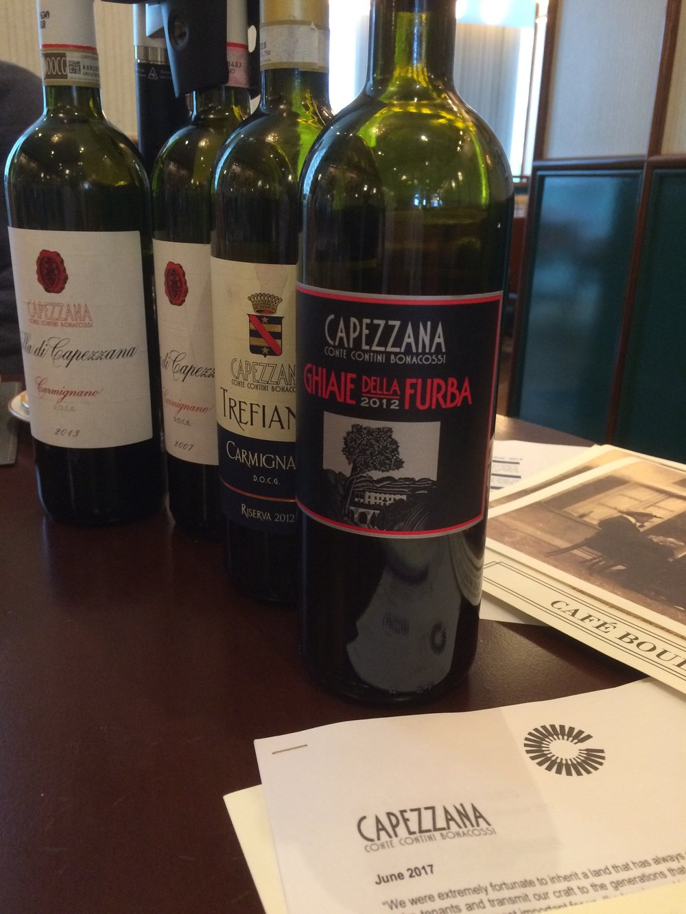 The Family Wines of Capezzna Conte Contini Bonacossi. Christopher Sealy