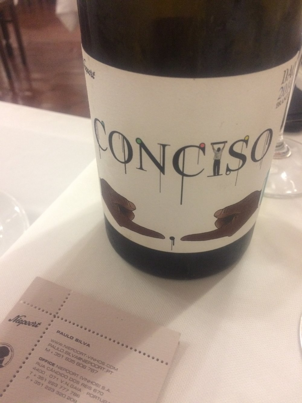 Conciso. Niepoort Vinhos. Christopher Sealy