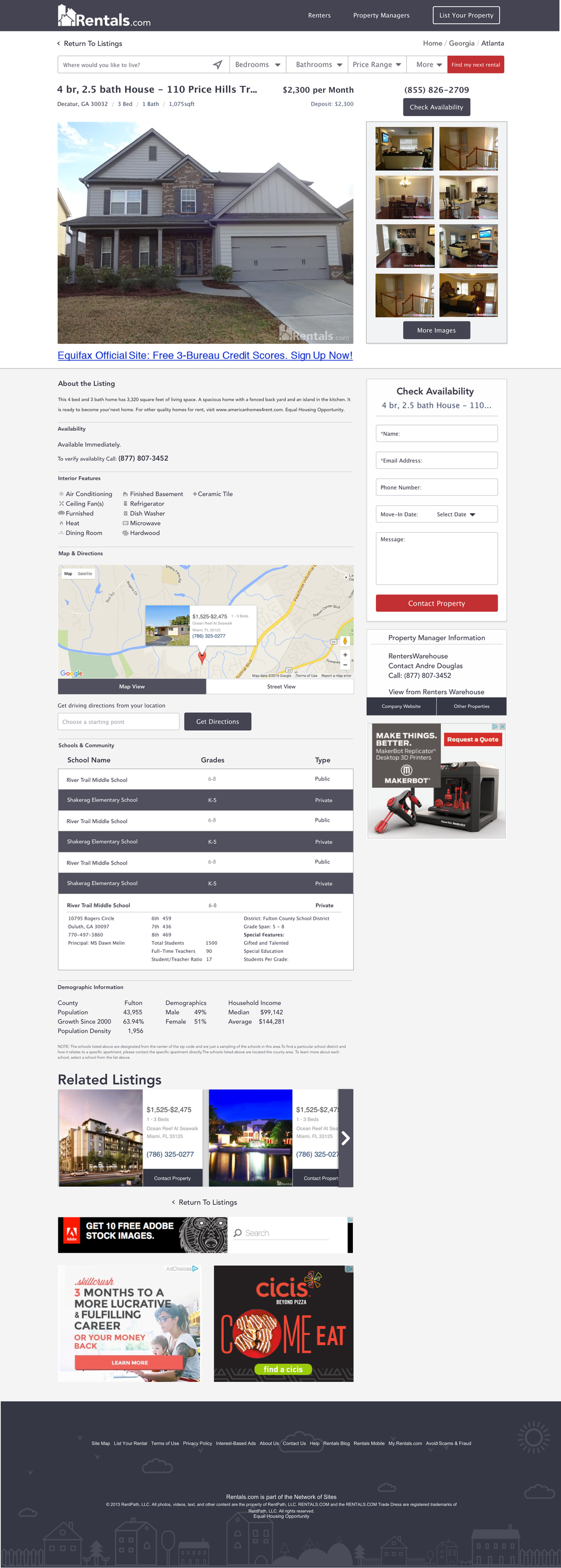 Property Display Page
