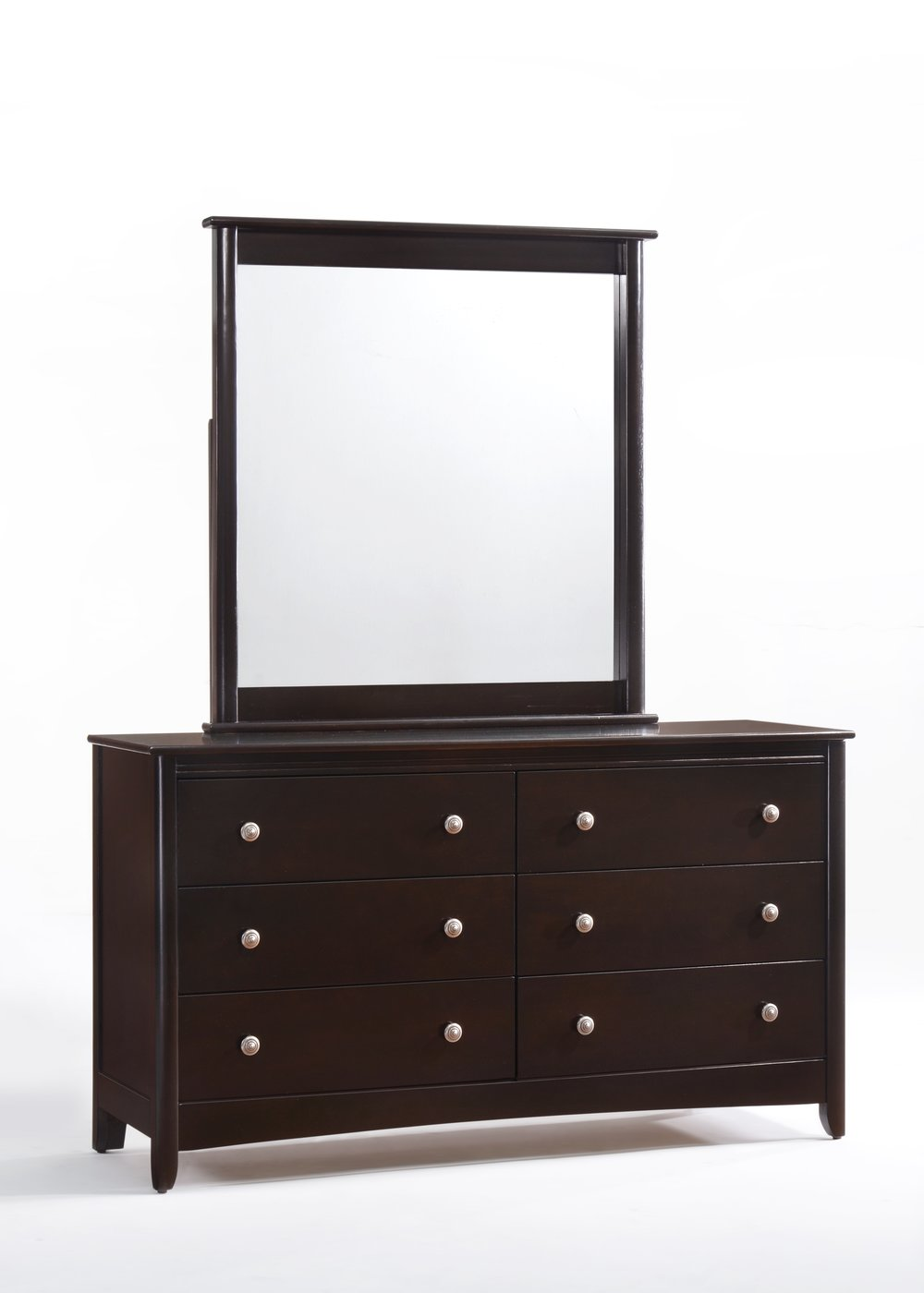 Secrets 6 Drawer Dresser & Mirror Dark Chocolate.jpg