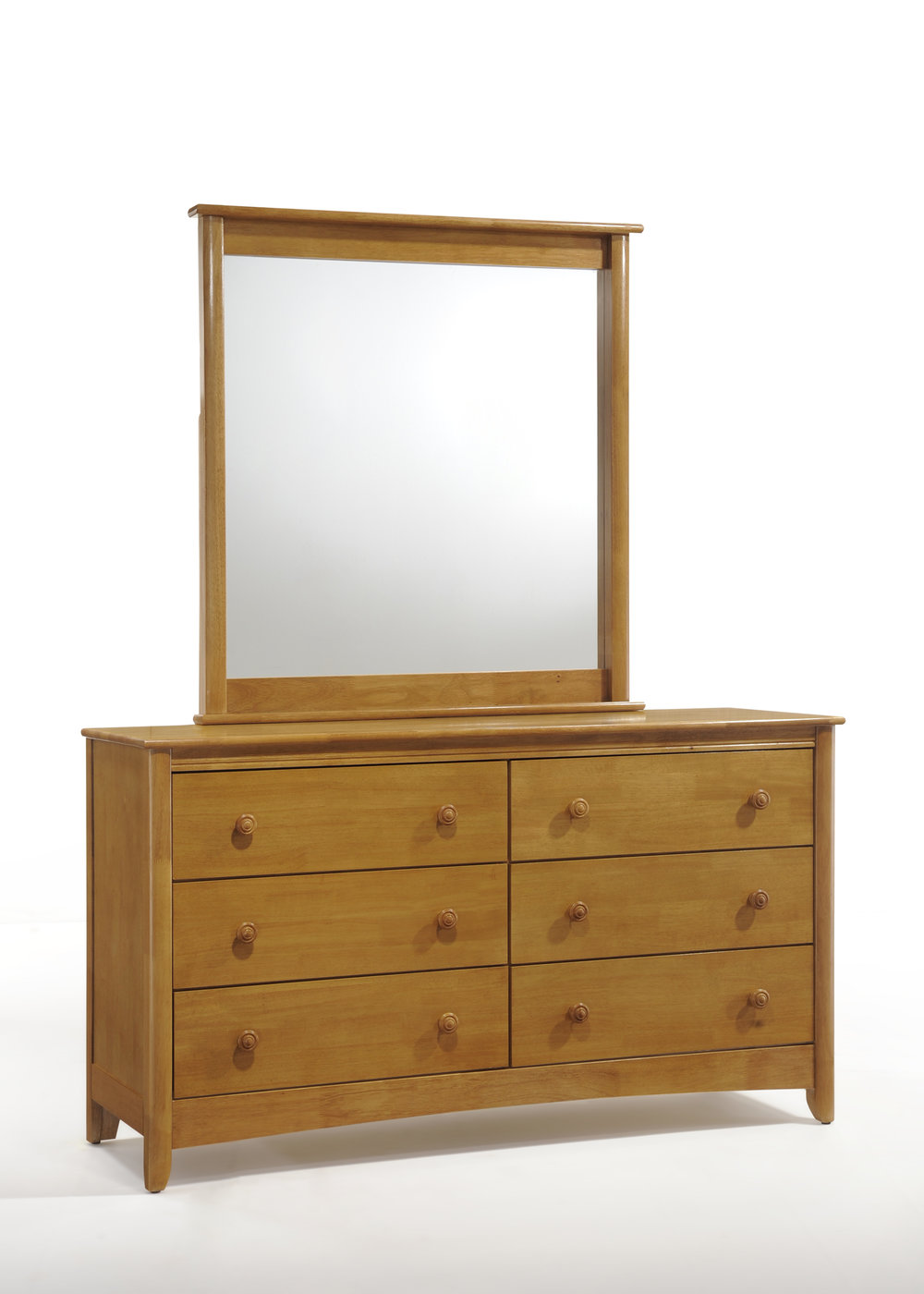 Secrets 6 Drawer Dresser & Mirror Medium Oak.jpg