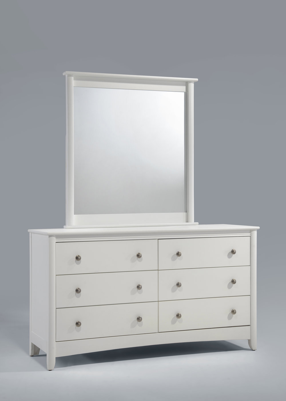 Secrets 6 Drawer Dresser & Mirror White.jpg