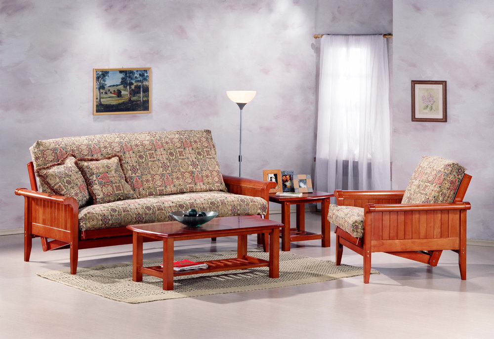 Choose Your Arm Style and Finish Color -  Get casual, get comfortable with these high quality, solid-wood futon frames. They come in a variety of arm styles and with optional drawers.
