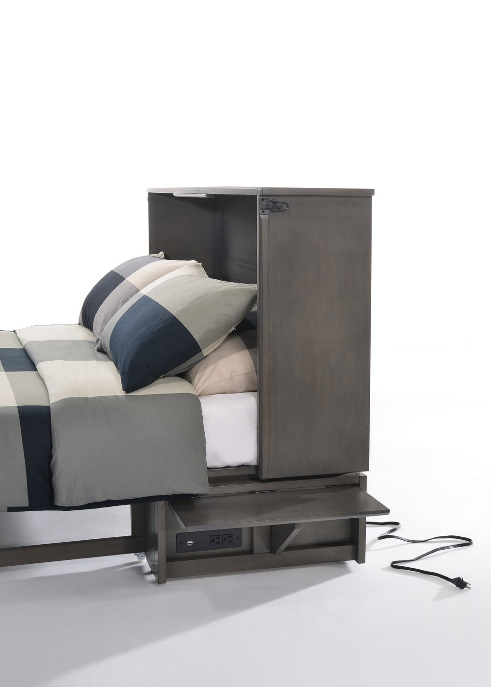 Power, USB Ports, and Night Stand -