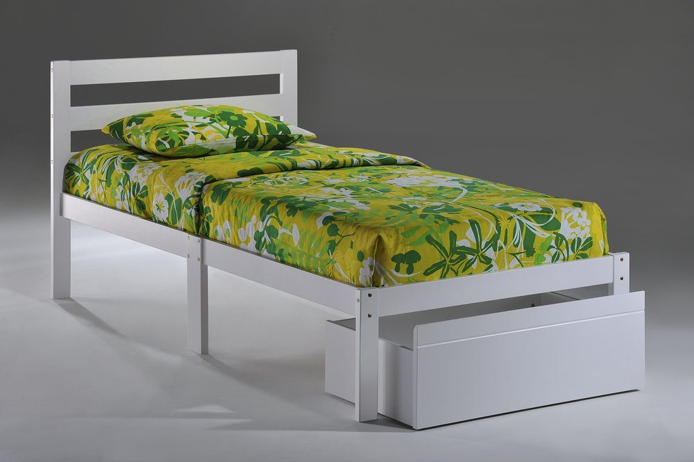 Bed-to-Go Twin White w Drawer opened.jpg