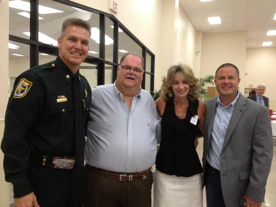 Sheriff Ashley, Graham Fountain, and Julie Hurst.