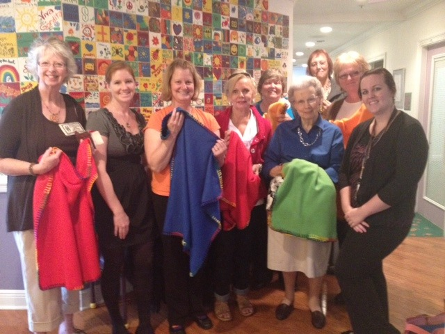 Thank you to Embroiderers' Guild Sand Dunes Chapter for 42 buddy blankets!
