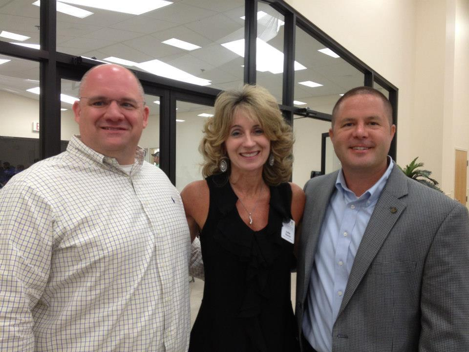 Sheriff Adkinson and CEO Julie Hurst at the retirement party for Graham Fountain