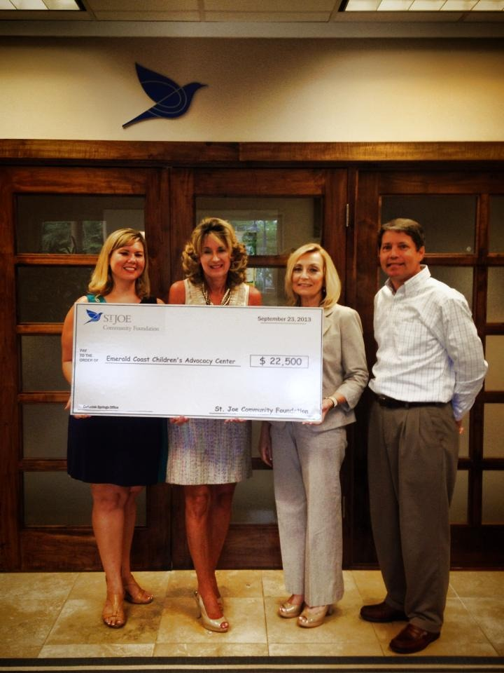 Thank you to The St. Joe Company for helping child abuse victims in WaltonCounty