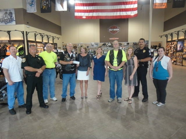 The Center was honored to receive a contribution from the Blue Knights Poker Run