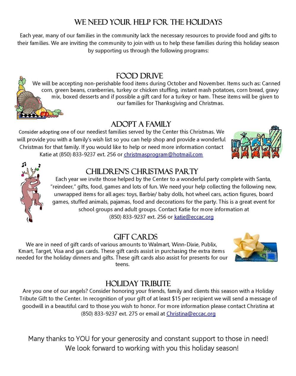 Newsletter Fall 2013 — Emerald Coast Children\'s Advocacy Center
