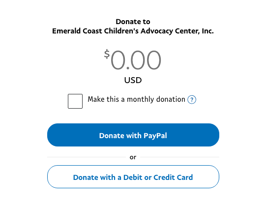 Clicking on this image will take you to the paypal site where you can donate with paypal, credit card, one time or monthly donation.