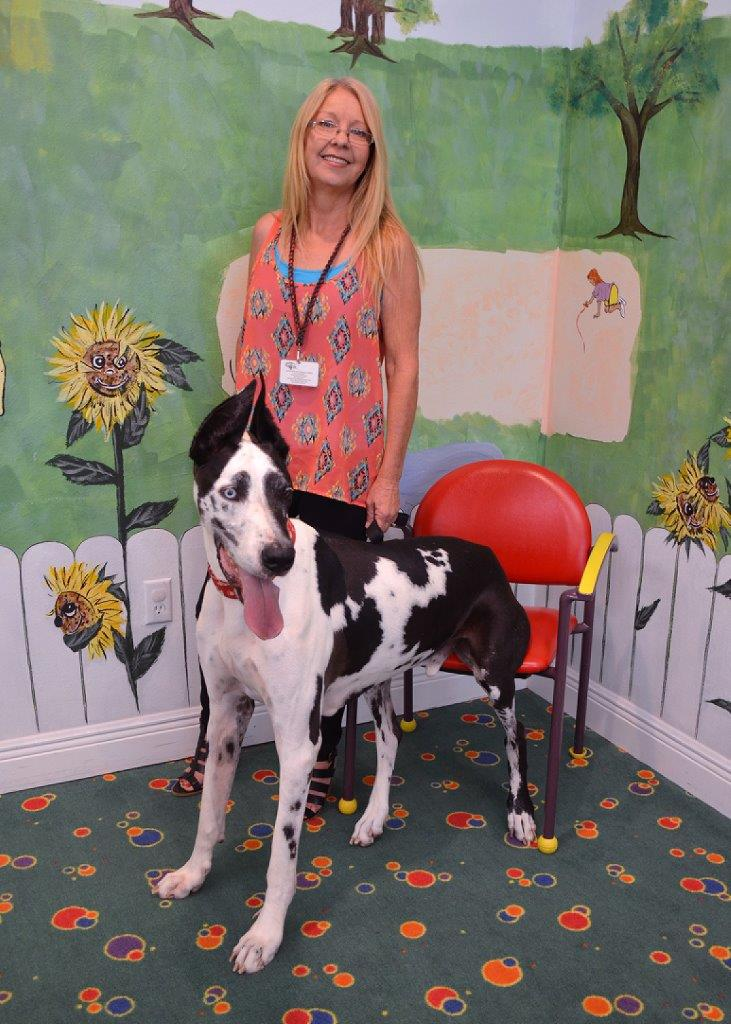 Angie Nousiainen and her Great Dane, Dozier.
