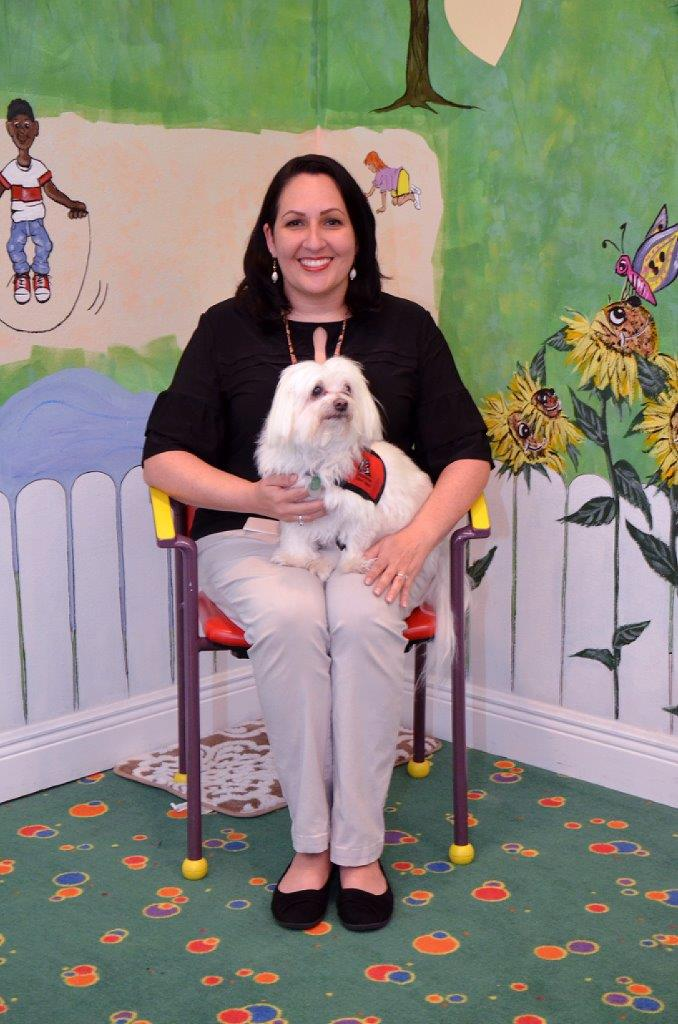 Above - Jacqui Broadus and Riley, a Maltese. Below – Jacqui with Cody, a Malti-Poo.