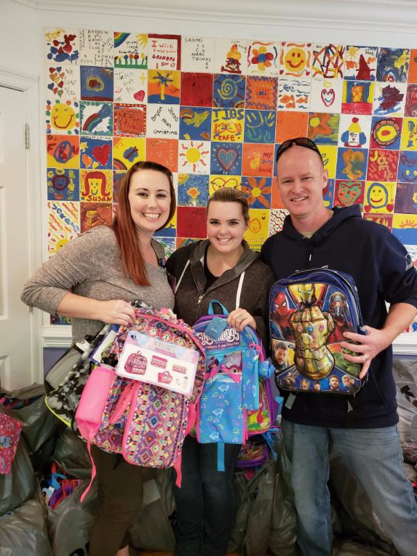 A big THANK YOU to Joe and Cassie Freitas, they donated 96 new backpacks, socks, and underwear for our children!