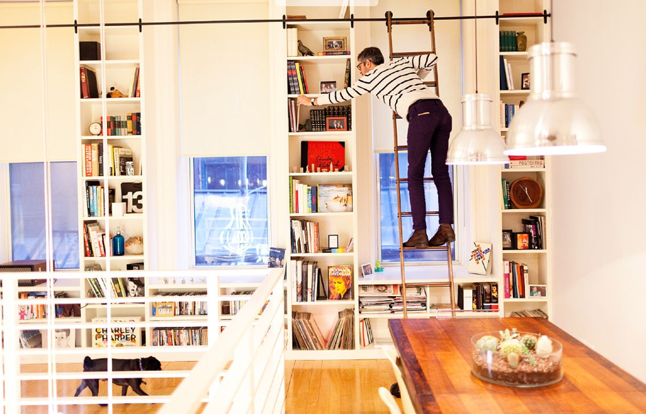 library ladder via the selby