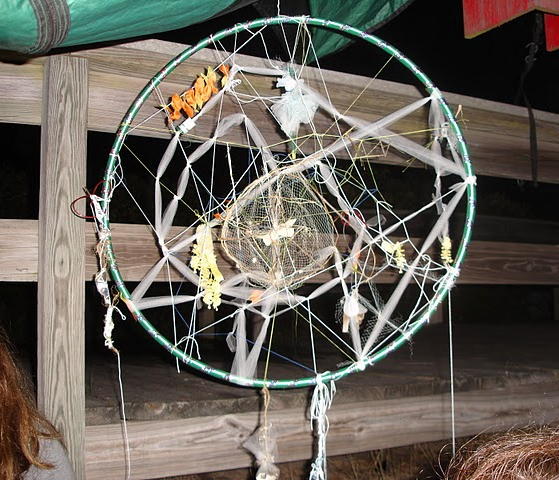this is a dreamcatcher we made in fire island