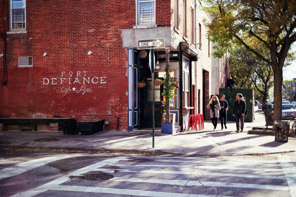 Fort Defiance: a popular brunch spot with excellent food.