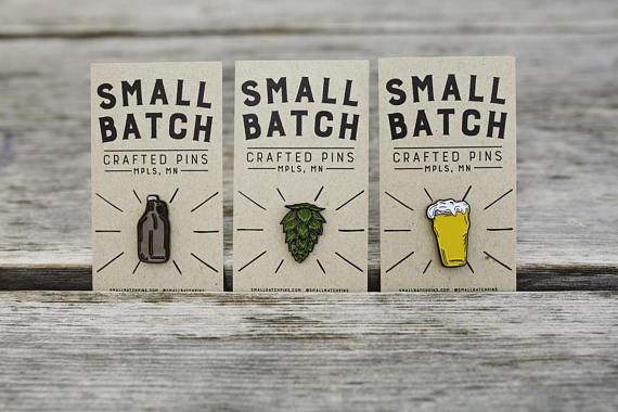 $23 - Enamel Beer Pins, Set of 3