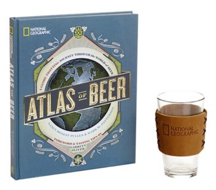 $55 - Nat Geo Atlas of Beer w/Pint Glass