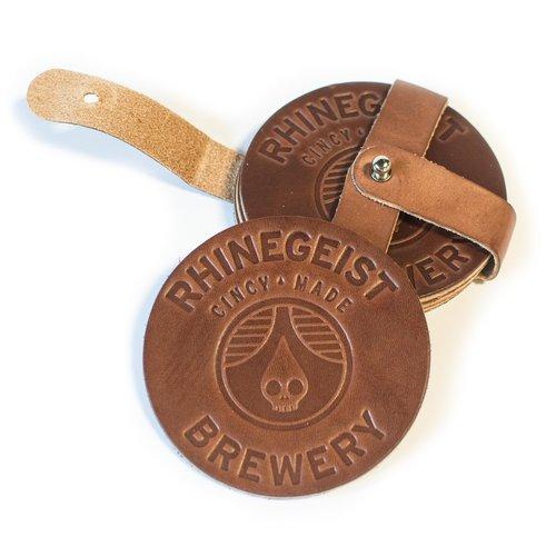 $32 - Rhinegeist Leather Coaster Set