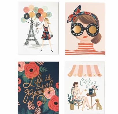 Rifle Paper Co / Assorted Card Set: Parisian Foil