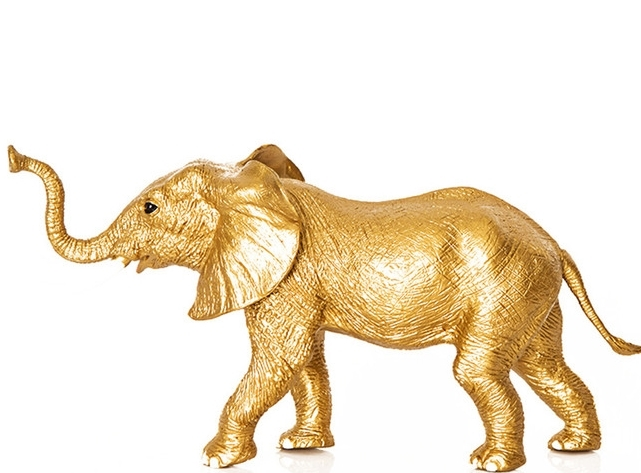 Drop It Modern / Gold Elephant Accessory
