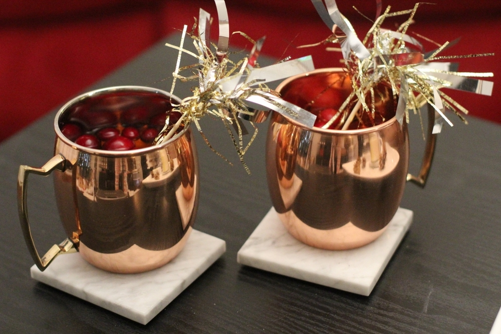 Tinsel Drink Stirrer // Moscow Mule Mugs   use code LEMONBLONDE on the drink stirrers for 10% off through December  Holiday drinks are a must! I lovee Moscow Mules! I'll do a post soon with a fun Christmas rendition of this classic drink!
