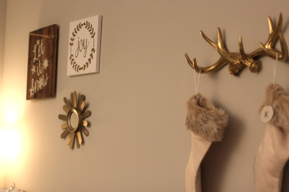 Joy Canvas //  Gold Antlers