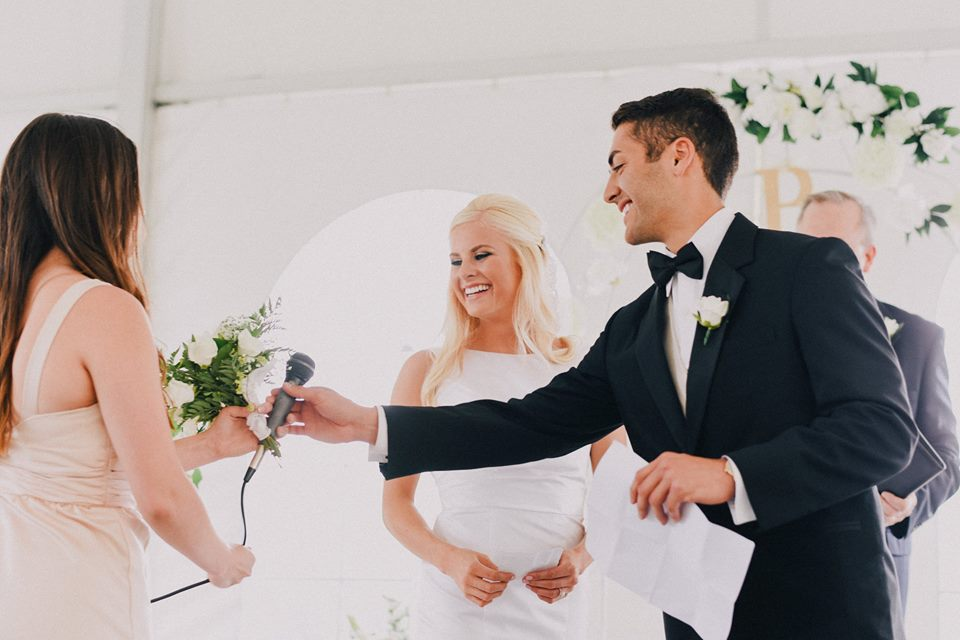 We decided to share personal vows and traditional vows.