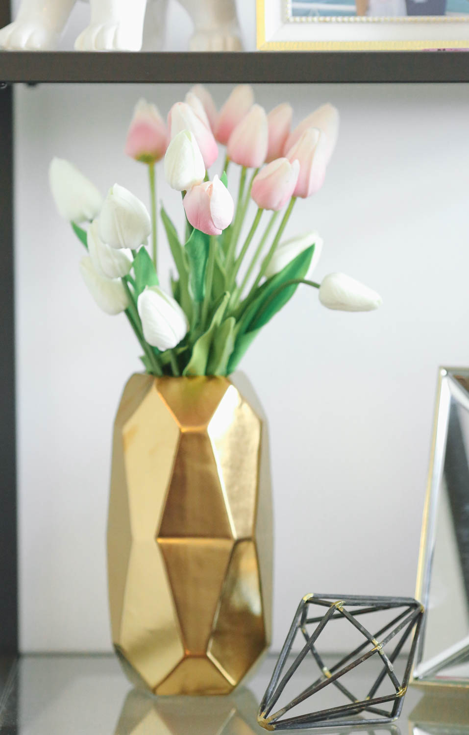This spring I fell in love with tulips. These faux tulips are from  Afloral  and I love how real they look and feel!