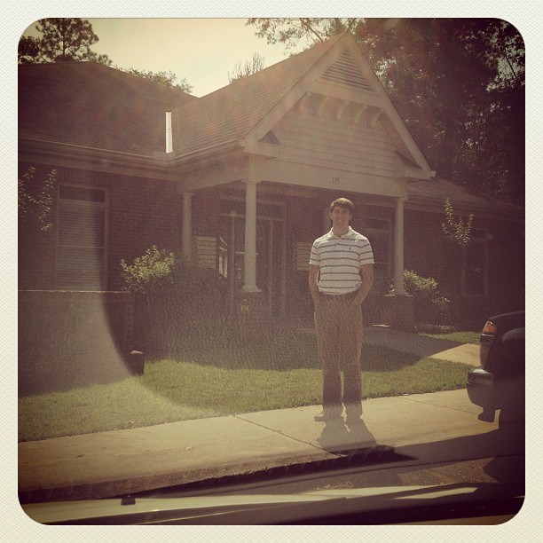 @raleighprice outside his new office! #proudwife
