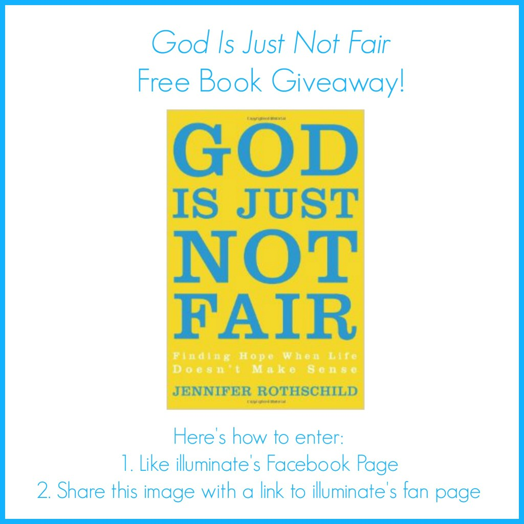 god is just not fair giveaway