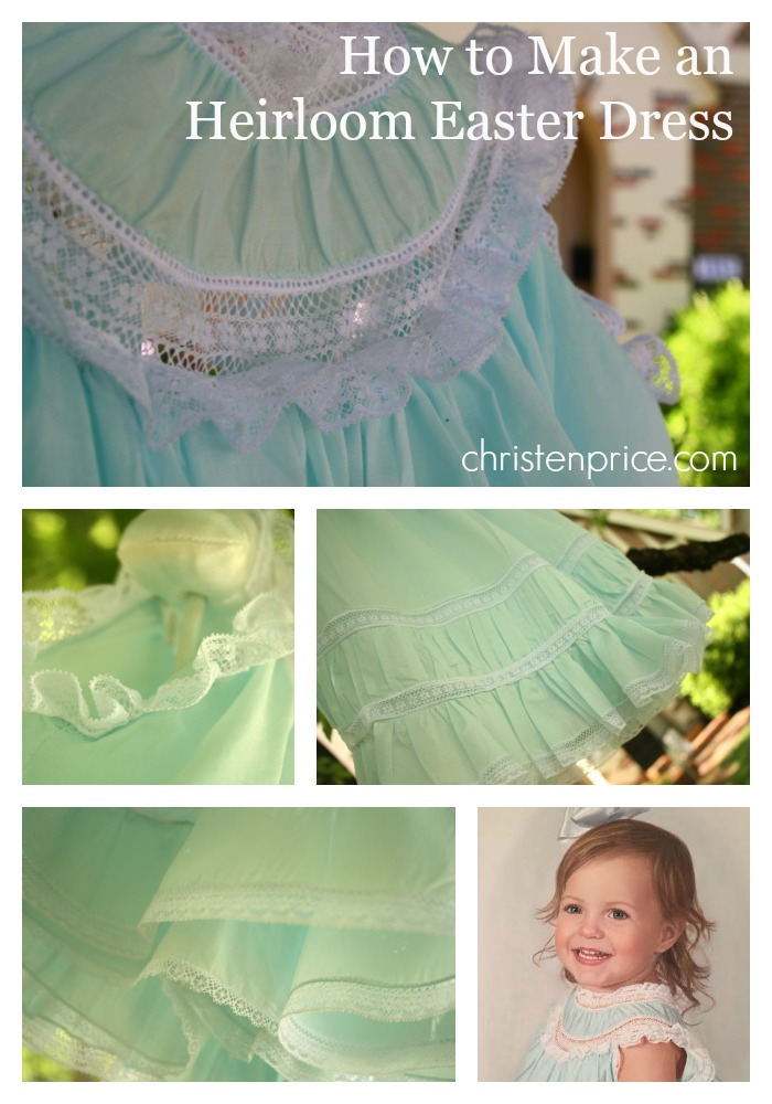 how to make an heirloom easter dress