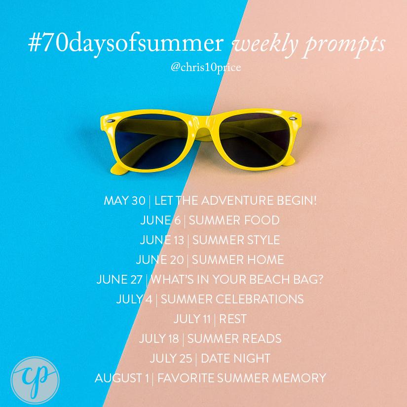 #70daysofsummer schedule