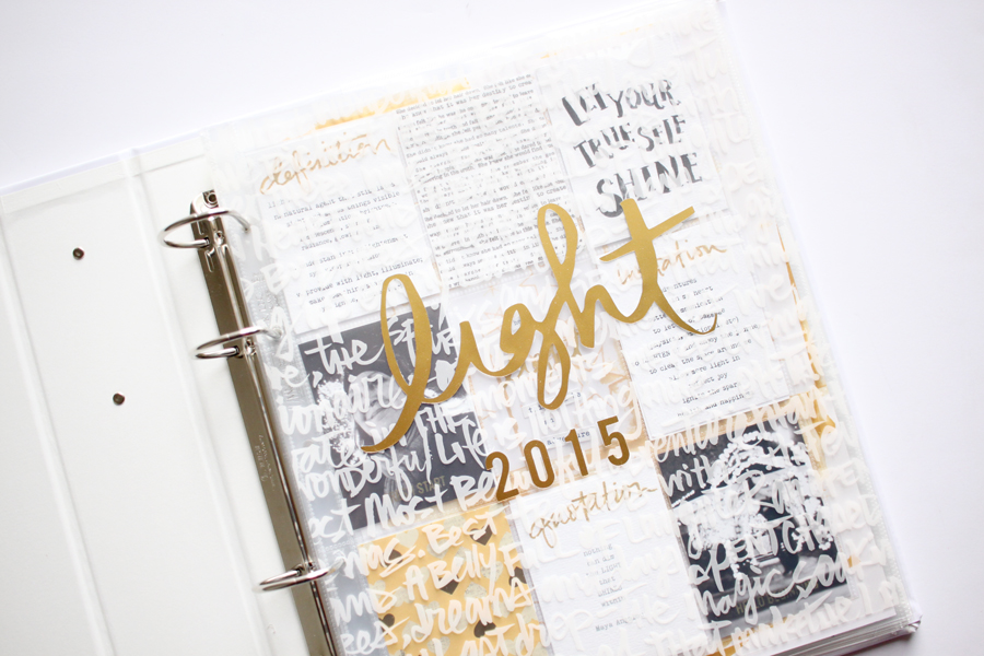 "My One Little Word is ""light"" this year. It's been such a wonderful word."