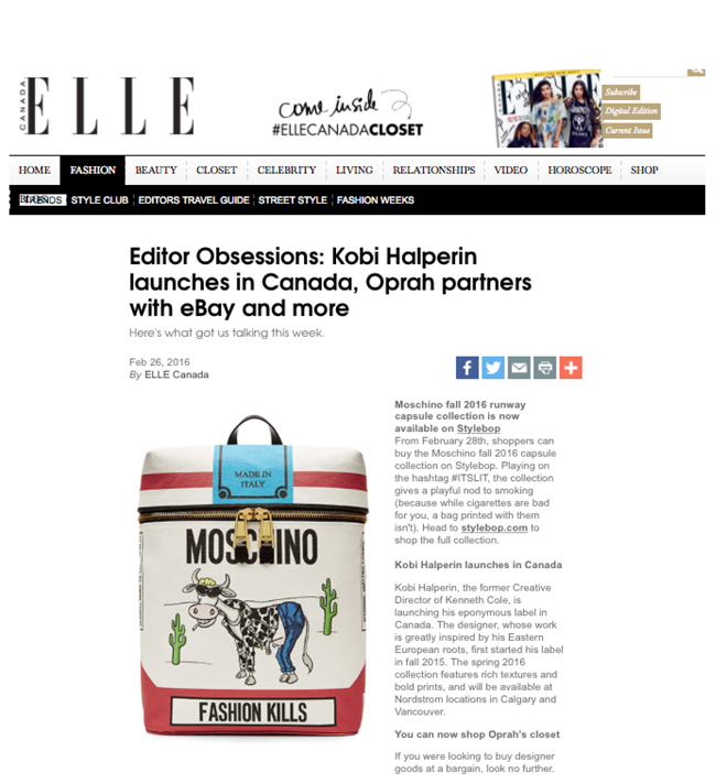 Elle Magazine Covering Kobi Expansion